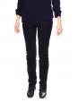 Pantalon slim fit en velours côtelé bleu nuit Px boutique 550€ Taille 36