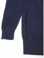 Pull oversize en crêpe de coton bleu marine Px boutique 660€ Taille 36