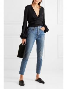 Jean HIGH RISE Self corps bleu brut taille haute Prix boutique 205€ Taille 25