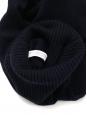 Pull fin col roulé en laine vierge bleu marine NEUF Taille 38
