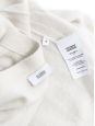 Ivory white cashmere cardigan Retail price €300 Size S