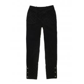 Pantalon taille haute slim fit en velours côtelé noir Prix boutique 1000€ Taille 36