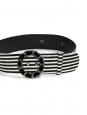 Ceinture rayée en velours noir et blanc Prix boutique 800€ Taille 40