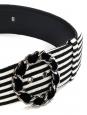 Black and white striped velvet belt Retail price €800 Size 40