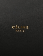 Sac Seau Drawstring en cuir noir Prix boutique 1700€