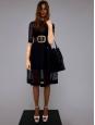Black leather Seau Drawtring bucket bag Retail price €1700