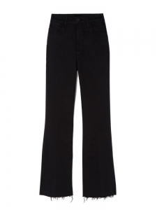 THE HUSTLER Not guilty high waist cropped ankle fray black jeans Retail price $280 Size 27