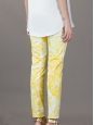 STELLA MCCARTNEY Yellow and white floral print skinny jeans Retail price €475 Size XS