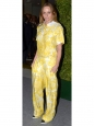 STELLA MCCARTNEY Jean slim fit imprimé fleuri jaune en coton bio Prix boutique 475€ Taille 34