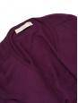 Robe en maille col V en laine vierge violet prune Px boutique 500€ Taille 36