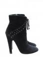 Bottines ankle boots en suede noir Px boutique 1050€ Taille 38