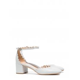 Escarpins LAUREN en cuir clair bleu gris NEUVES Prix boutique 490€ Taille 37