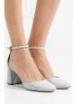 CHLOE Escarpins LAUREN en cuir clair bleu gris NEUVES Prix boutique 490€ Taille 37