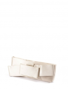 VALENTINO Beige ecru satin evening clutch bag Retail price $795