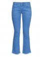 STELLA MCCARTNEY Frayed-hem mid-rise flared cropped blue jeans Retail price €275 Size 30