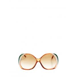 Lunettes de soleil oversize monture orange, verte, blanche Prix boutique 220€