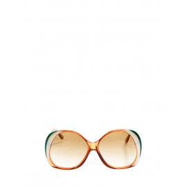 Orange brown, green and white oversized sunglasses Retail price €220