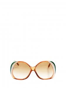 Lunettes de soleil oversize monture orange, verte, blanche Px boutique 220€