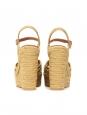 Sandales CANDY compensées espadrilles à bride cheville enjute beige Prix boutique 670€ Taille 40