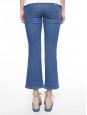 STELLA MCCARTNEY Jean flare cropped taille haute bleu brodé fleurs jaune et vert Prix boutique 510€ Taille M (28)