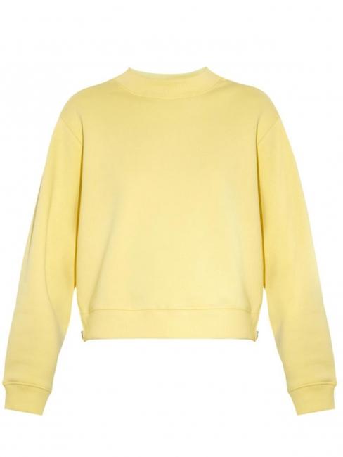 Pull sweatshirt Bird col rond en coton jaune clair Prix boutique 200€ Taille S