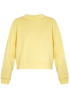 ACNE STUDIOS Yellow bird side-zip fleece crew neck sweatshirt Retail price €200 Size S