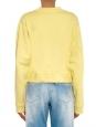 ACNE STUDIOS Yellow bird side-zip fleece crew neck sweatshirt Retail price €200 Size S