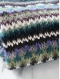 KENZO Green, blue, purple white and black graphic mohair and wool scarf Retail price €190