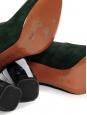 CARVEN Bottines en suede vert foncé à talon effet marbre gris noir Prix boutique 430€ Taille 36