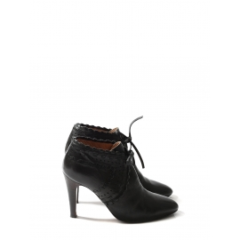 Bottines à talon PIPER low boots en cuir noir Px boutique 640€ Taille 38,5
