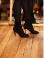 Bottines en suede noir talon zip doré Px boutique 650€ Taille 39