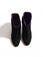 SERGIO ROSSI Black suede ankle boots with back gold zip Retail price €650 Size 38.5