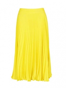 High waist bright yellow crepe maxi skirt Retail price €210 Size L