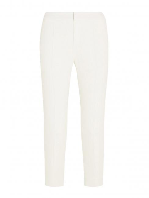 Pantalon tailleur en crêpe de chine blanc ivoire Prix boutique 480€ Taille 40