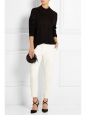 CHLOE Ivory white crepe de chine slim fit tailored pants Retail price €480 Size 40