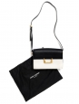 SAINT LAURENT LULU Medium black and white leather shoulder bag Retail price €1500