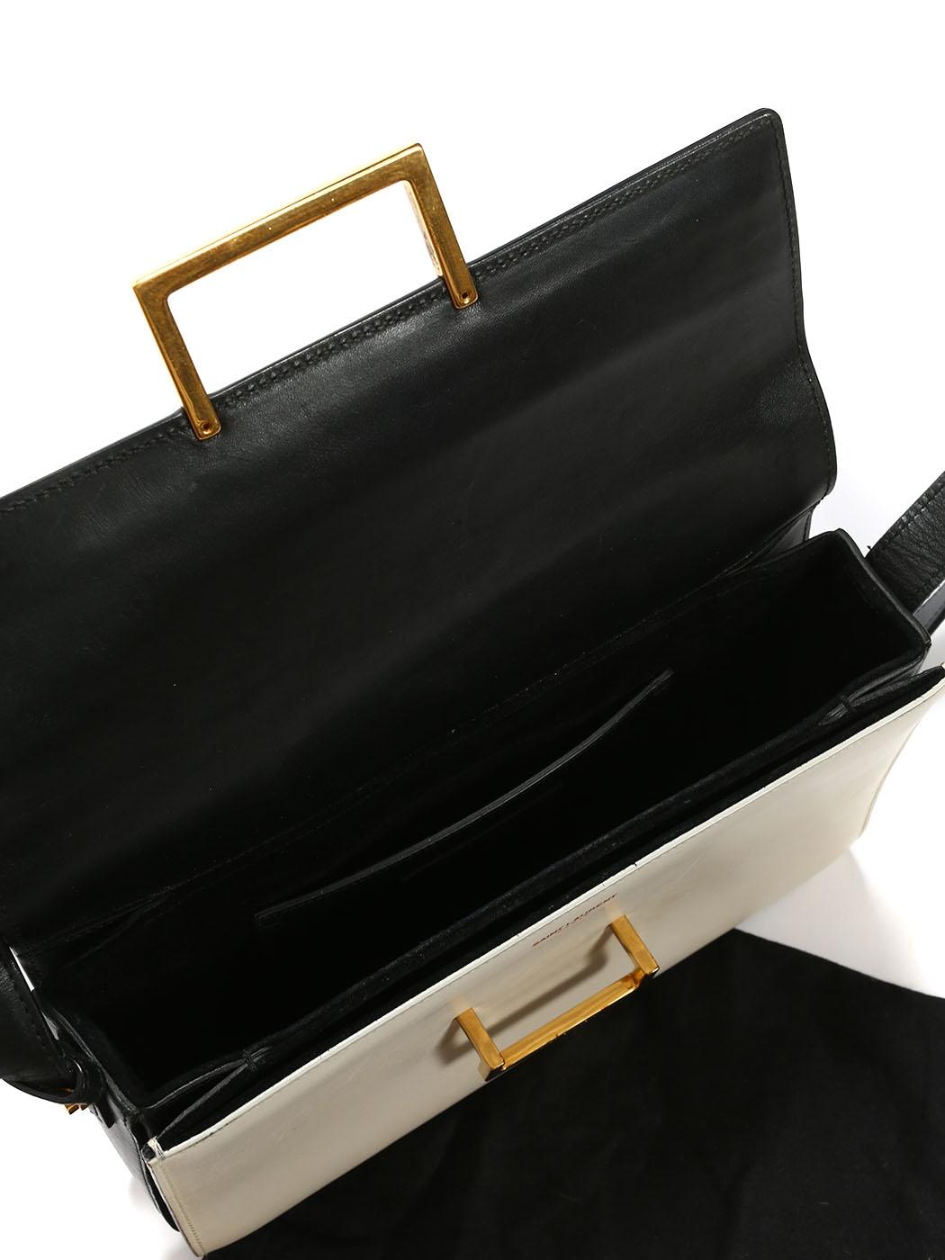 ... SAINT LAURENT LULU Medium black and white leather shoulder bag Retail  price €1500 ... 0bc1705b21db0