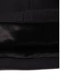 SAINT LAURENT Cape en feutre de laine et cuir noir Prix boutique $2750 Taille 36
