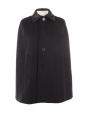 Cape en feutre de laine et cuir noir Prix boutique $2750 Taille 36