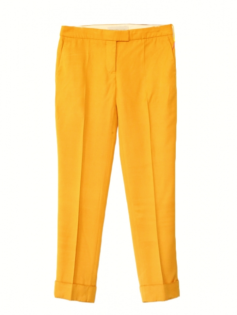 Amber yellow low waist tailored pants Retail price €450 Size 40