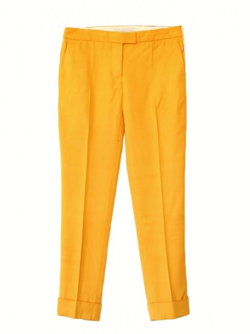 Pantalon à pinces taille basse jaune ambre Px boutique 450€ Taille 40
