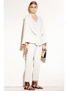 Veste blazer en crêpe blanc ivoire Prix boutique 1000€ Taille 36