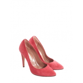 Pointy-toe soft red pink suede leather pumps Retail price €280 Size 37