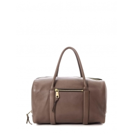 Sac à main duffle bag MADELEINE en cuir marron noisette Prix boutique 1500€