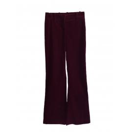 Dark burgundy prune corduroy flared pants Retail price €300 Size 36