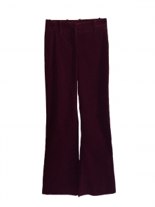 HUGO BOSS Dark burgundy prune corduroy flared pants Retail price €300 Size 36