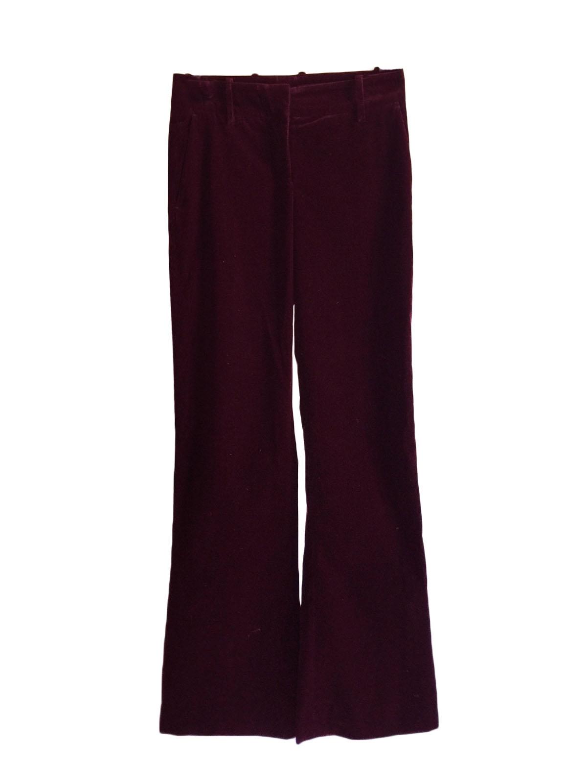 664455d297 Louise Paris - HUGO BOSS Dark burgundy prune corduroy flared pants ...