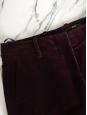 HUGO BOSS Dark burgundy prune corduroy flared pants Retail price €300 Size 36