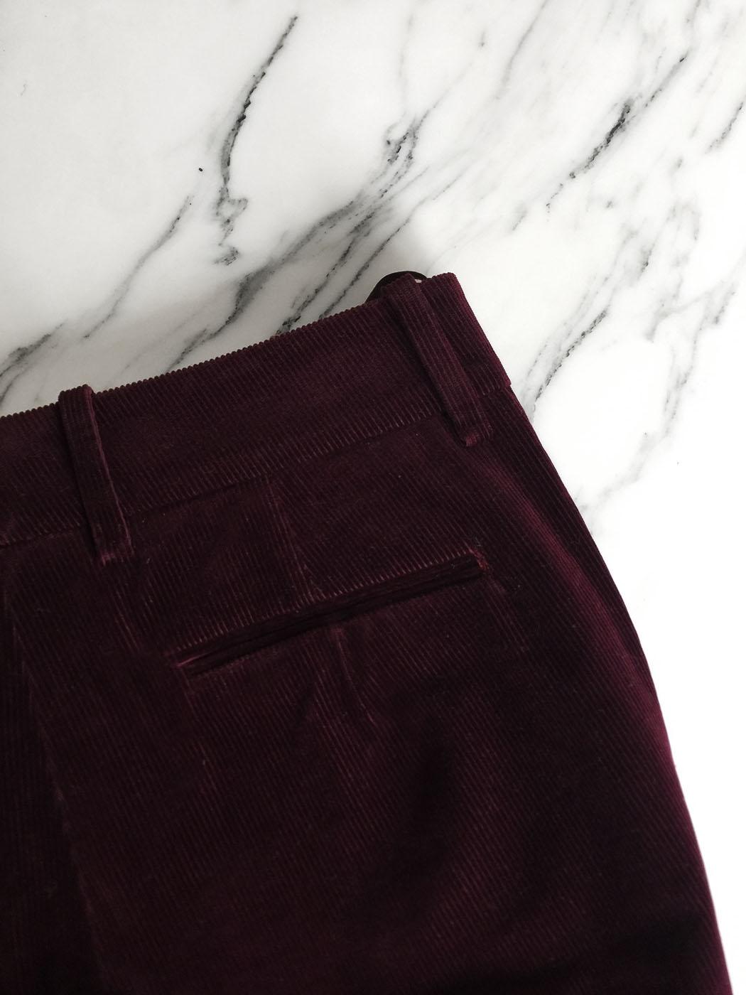 6c6564c0c5 ... HUGO BOSS Dark burgundy prune corduroy flared pants Retail price €300  Size 36 ...