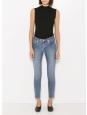 Jean moulant bleu medium slim fit taille haute cropped Prix boutique 160€ Taille 25